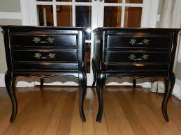 distressed black end table french provincial end table rehab black distressed with original