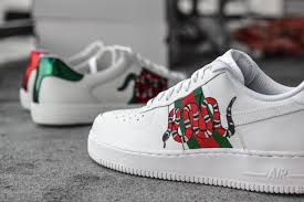 amac custom sneakers gucci snakes x af1 low by amac customs koolout