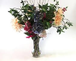 Faux Floral Centerpieces by Foyer Arrangement Etsy