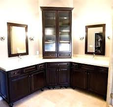 Corner Vanity Cabinet Bathroom Double Corner Bathroom Vanity Cabinets Black White Benevola Fine