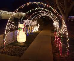 custom length christmas light strings holiday light tunnel