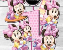 baby minnie mouse centerpieces etsy