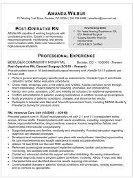 Resume For Job Interview by Med Surg Rn Resume Sample Resume For Post Op Nurse I U0027m A Nurse