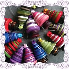hanging button christmas tree decoration button tree christmas