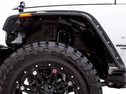 jeep wrangler unlimited flat fenders all things jeep flat fender flare 4 kit w stainless