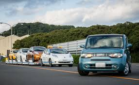 driverless towing system at nissan oppama plant