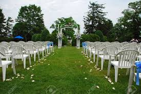 wedding setup outdoor wedding setup stock photo picture and royalty free image