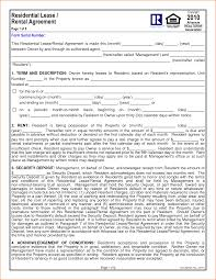 Rental House Lease Agreement Template 6 1 Year Lease Agreement Printable Receipt