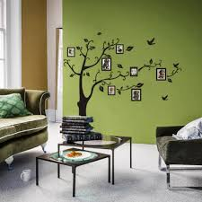 diy black family photoes frame tree wall stickers living room