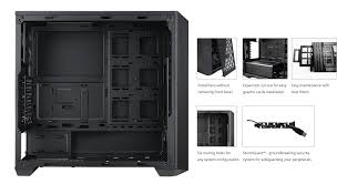 masterbox 5 black with meshflow front panel cooler master