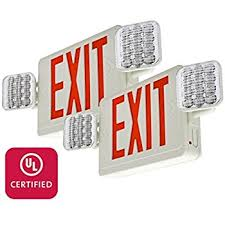 emergency lighting battery life expectancy red led exit sign with battery backup office product commercial