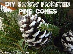 snow artificial snow pine cone and adhesive