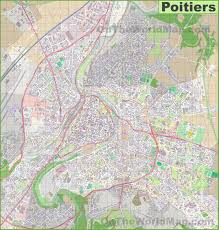 map of poitiers large detailed map of poitiers