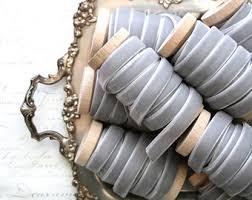 velvet ribbon by the yard grey velvet ribbon etsy