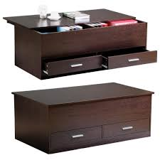 Trunk Coffee Table With Storage Yaheetech Slide Top Trunk Coffee Table With Storage Box 2 Drawers