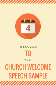 thanksgiving welcome nowhere church welcome speech sample