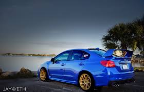 blue subaru gold rims 2015 subaru wrx world rally blue