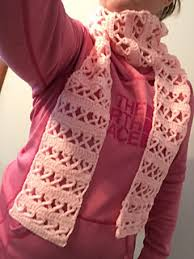 ravelry crochet awareness ribbon scarf pink for breast cancer or