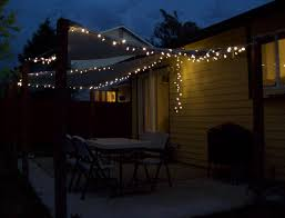 Outside Patio String Lights Backyard Iyn Pole Stand Patio Lighting String How To Hang String