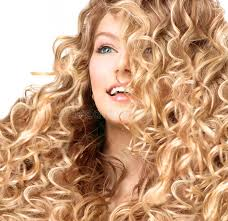 he gets excited having his hair permed and highlighted smiling girl with blonde permed hair stock photo image of lock