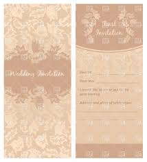 ornate brown floral wedding invitation template vector clipart