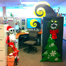 Cute Cubicle Decorating Ideas by My Nightmare Before Christmas Decorate Cubical Contest Jack