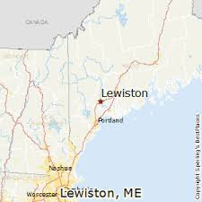 map of maine with cities best places to live in lewiston maine