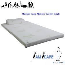 Bamboo Memory Foam Mattress Topper Memory Foam Mattress Topper Single
