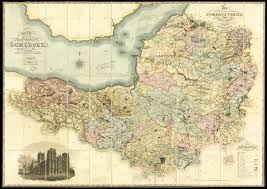 somerset map large scale map of somerset maps daniel crouch books