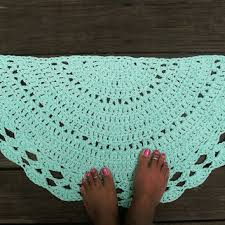 Crochet Doormat Puff Stitch Crochet Rug In Pink From By Camille Designs Cotton