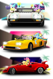 Ponies Cars And Pop Up Headlights By Gonein10seconds On Deviantart
