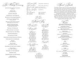 tri fold wedding programs signatures by wedding menu and program for tameca