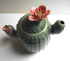 available in 3 weeks ceramic cactus teapot with flowers