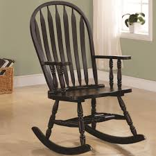Patio Furniture Des Moines Ia by Transitional Rocking Chair In Black Finish Newton Grinnell Pella
