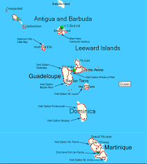 Martinique Map Fidelity Luxury Sailing Monohull Charter Yacht