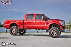Ford F250 Truck Wheels - ford f 250 fuel maverick d260 wheels chrome with gloss black lip