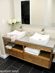 Bathroom Vanities Modern Style How To Build A Diy Modern Floating Vanity Or Tv Console
