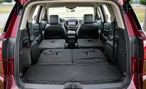 Ford Explorer Trunk Space - 2017 gmc acadia in depth model review car and driver
