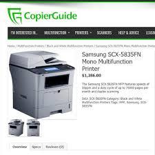 samsung scx 5835fn monochrome multifunction laser printer