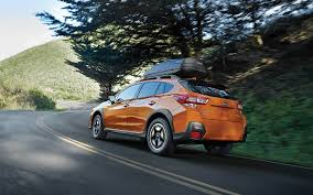 crosstrek subaru orange 2019 subaru crosstrek sunshine orange color on road 4k hd wallaper