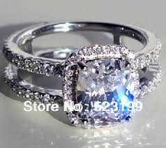 diamond rings new images New luxury design female yellow clear cushion cut simulate diamond jpg