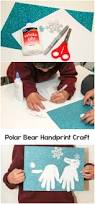 polar bear handprint winter craft in the playroom