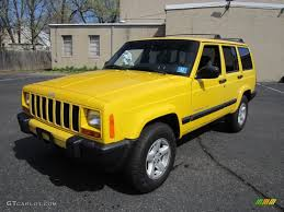 jeep yellow solar yellow 2001 jeep cherokee sport 4x4 exterior photo 63473703