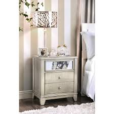 silver nightstands u0026 bedside tables for less overstock com