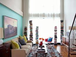 living room ideas for small apartments colorful clever small spaces from hgtv hgtv