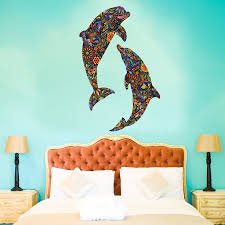 under the sea theme kids room dolphin duo wall sticker idolza under the sea theme kids room dolphin duo wall sticker