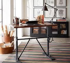 Raised Desk Shelf Pittsburgh Crank Standing Desk Pottery Barn