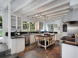 one wall kitchen with island cottage kitchen with kitchen island one wall in laguna ca