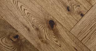 Smoked Herringbone Oak Brushed  Oiled Engineered Wood Flooring - Herringbone engineered wood flooring