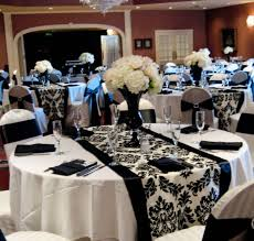 black white and wedding reception decorations 2041